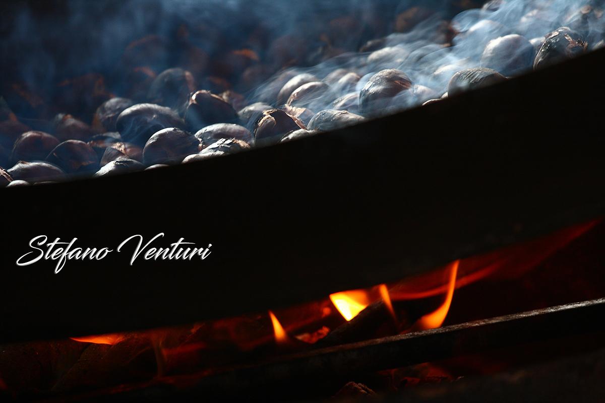 Le castagne sul fuoco