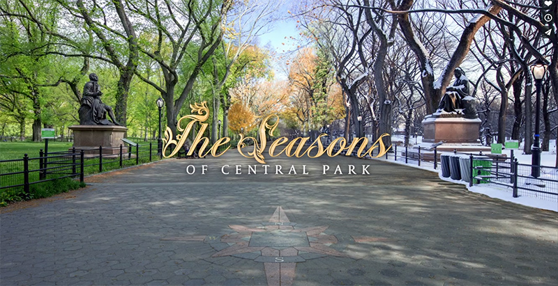 L'incredibile timelapse sulle 4 stagioni a Central Park